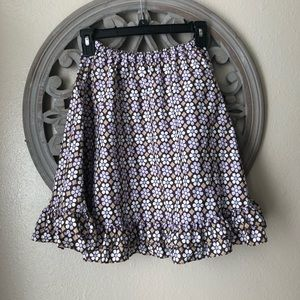 Gymboree brown and purple floral  long skirt